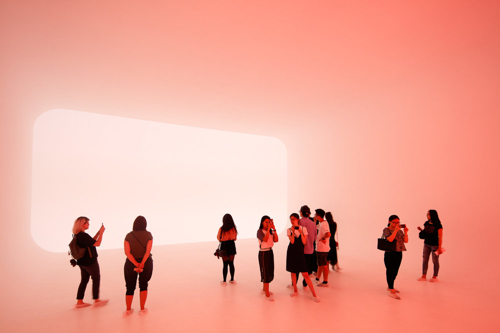 James Turrell light installation at the Long Museum in Shanghai, China.