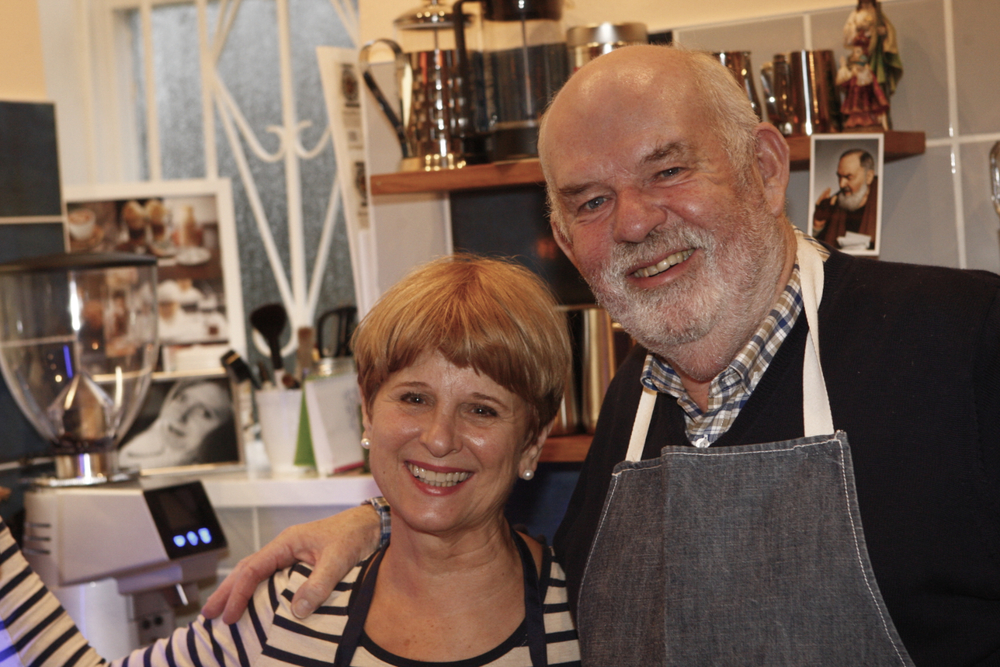 Josephine and Frank, Husband and Wife team they are so buzzing when they work together, Frank is a culinary expert and Jo is just so warm and welcoming to all who come to see us at Pio' Cafe.