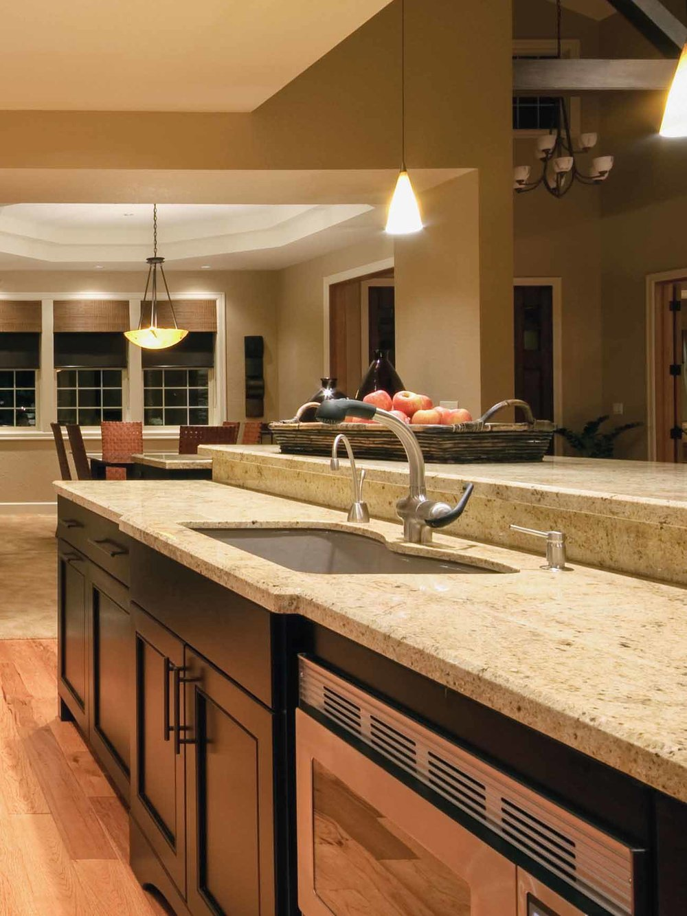 Kitchen Remodel - New fixtures, sinks and faucets, garbage disposals, water filtration system, hot water dispensers, dishwasher hookups, gas range hookups.