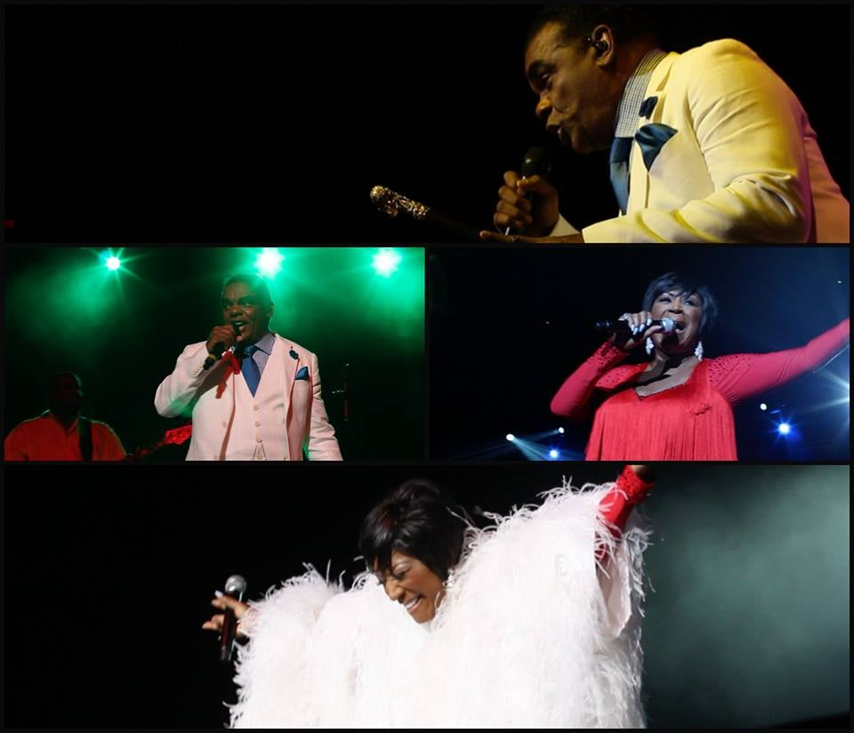 Screen grabs from a Patti Labelle/Isley Brothers concert we filmed