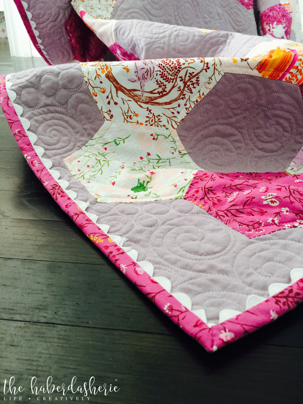 adding whimsy to your quilt • rick rack binding tutorial — the ... : adding binding to quilt - Adamdwight.com