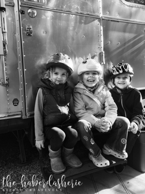 again, cousins are the subject of the image, with the hint of grandma's trailer adding dimension + telling a story...
