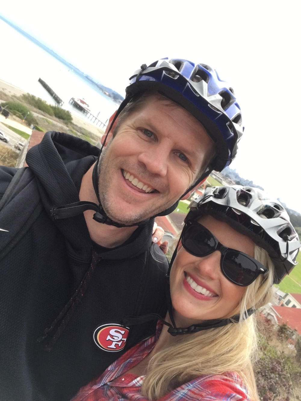 Biked from Beach Street to Presidio to the bridge to Sausalito to Mill Valley to Tiburon!