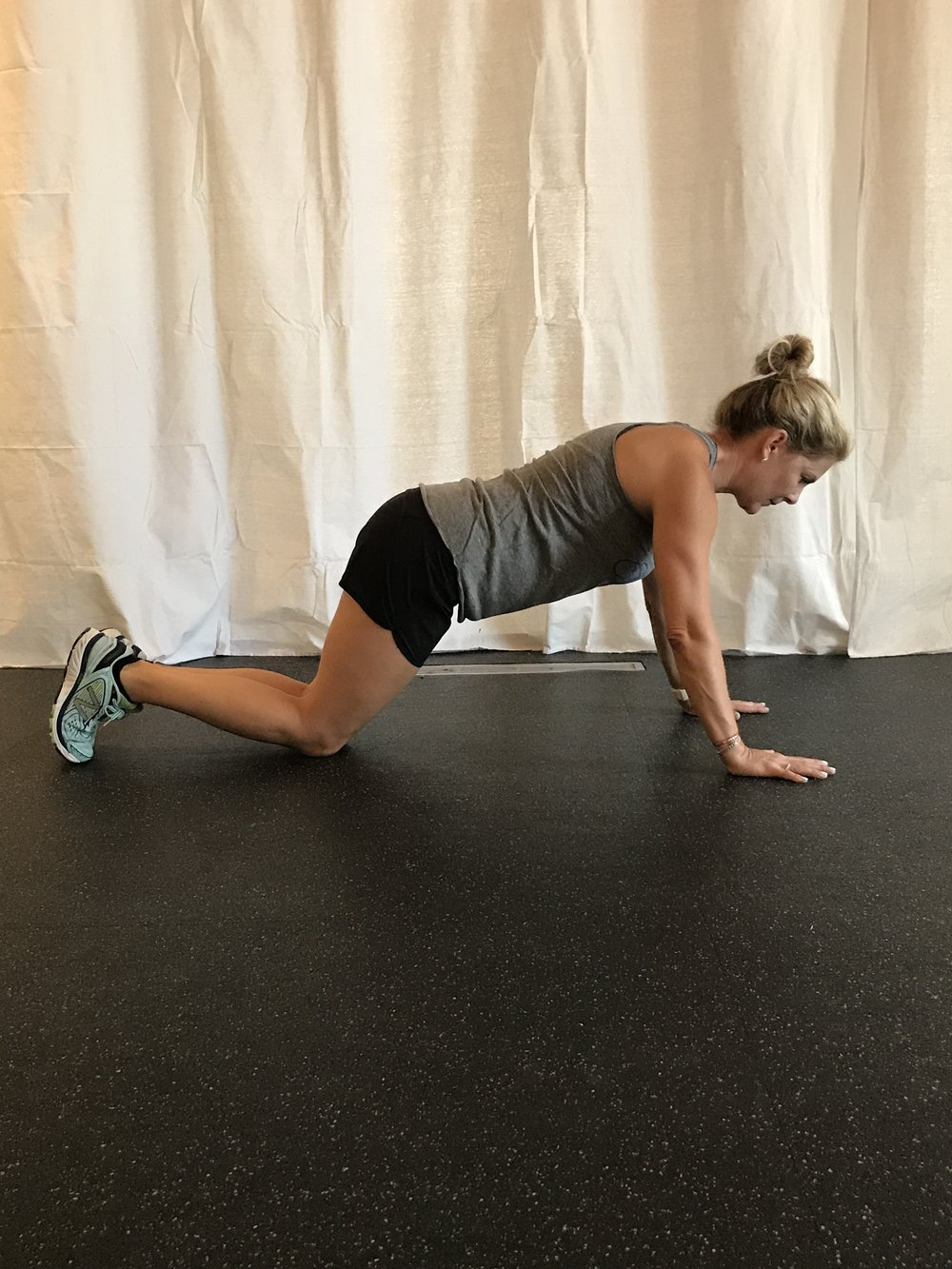 Modified pushup: just drop the knees to the earth to be your pivot point instead of toes