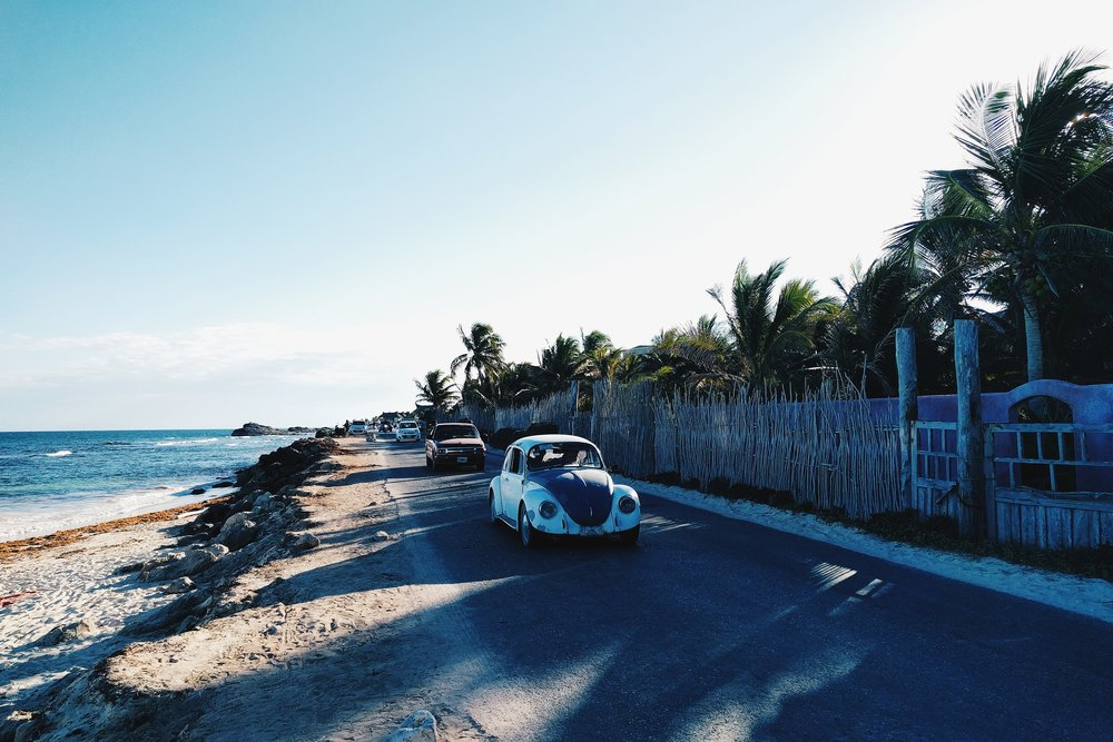 Tulum coast car
