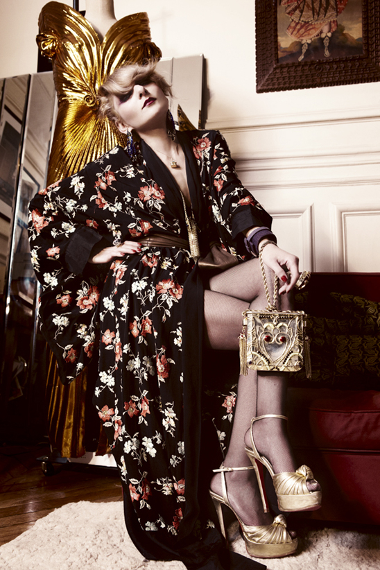 Fashion stylist and designer Catherine Baba.  Photo by Billy Nava for Vogue Paris.