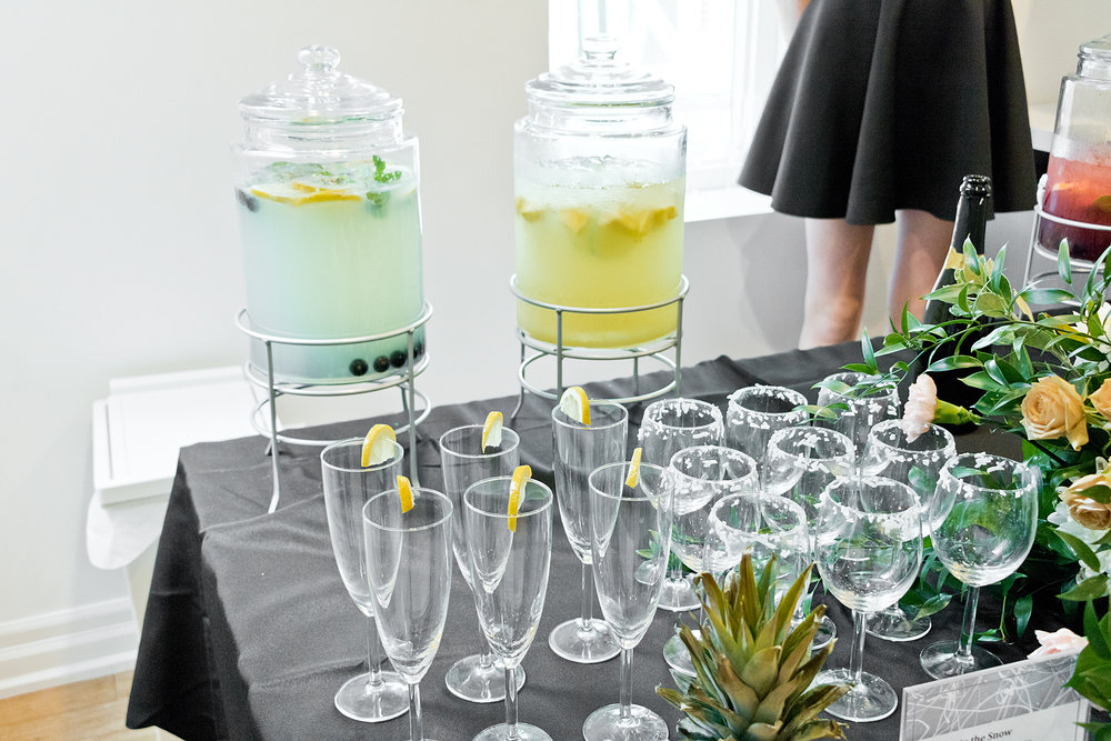 Custom cocktails created to match each of the products!
