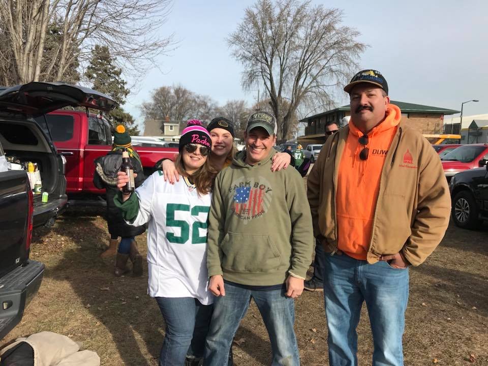 Tailgating before Wisconsin's own Green Bay Packers game