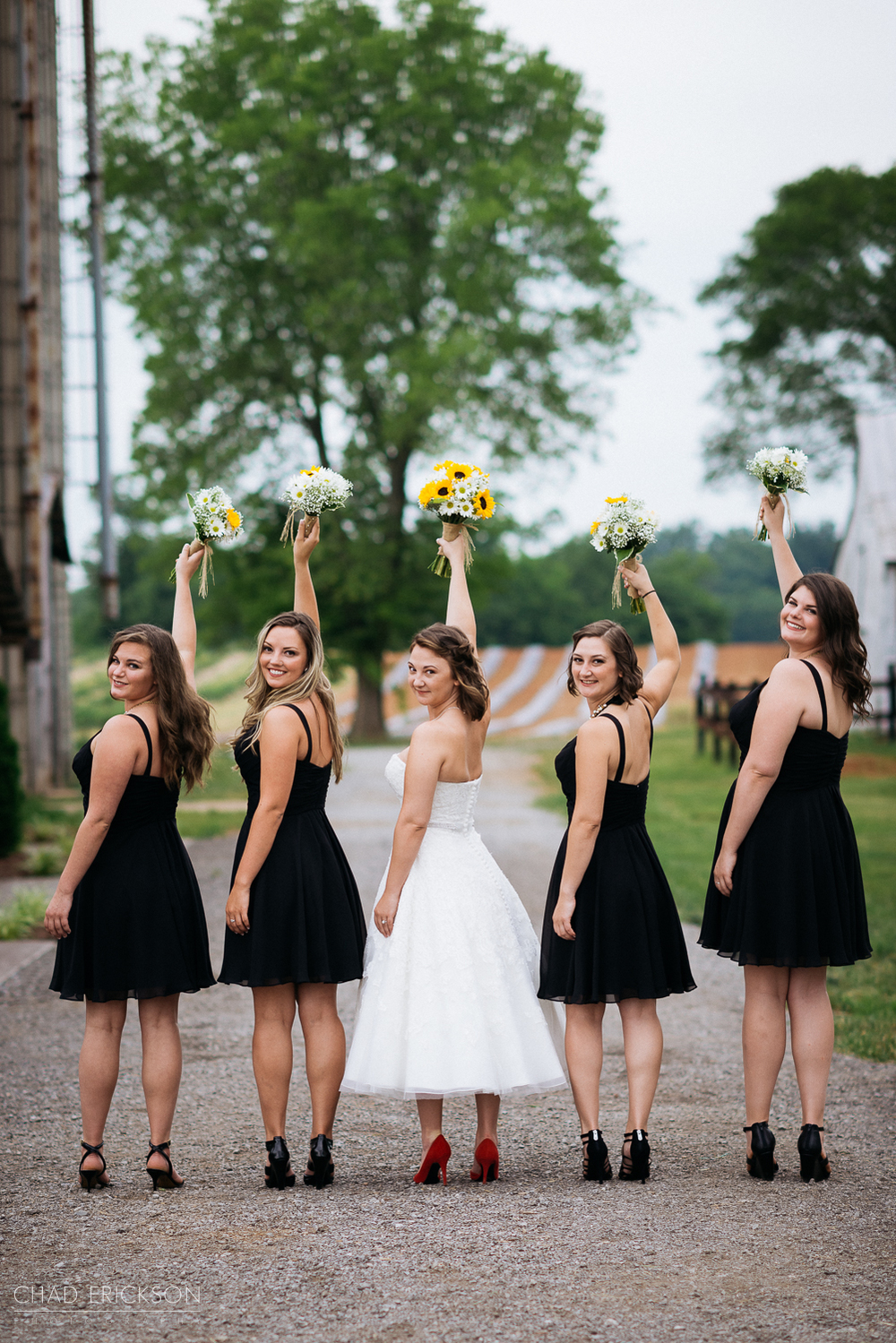 Cute bridesmaids portrait at The Grove of Williamson Place