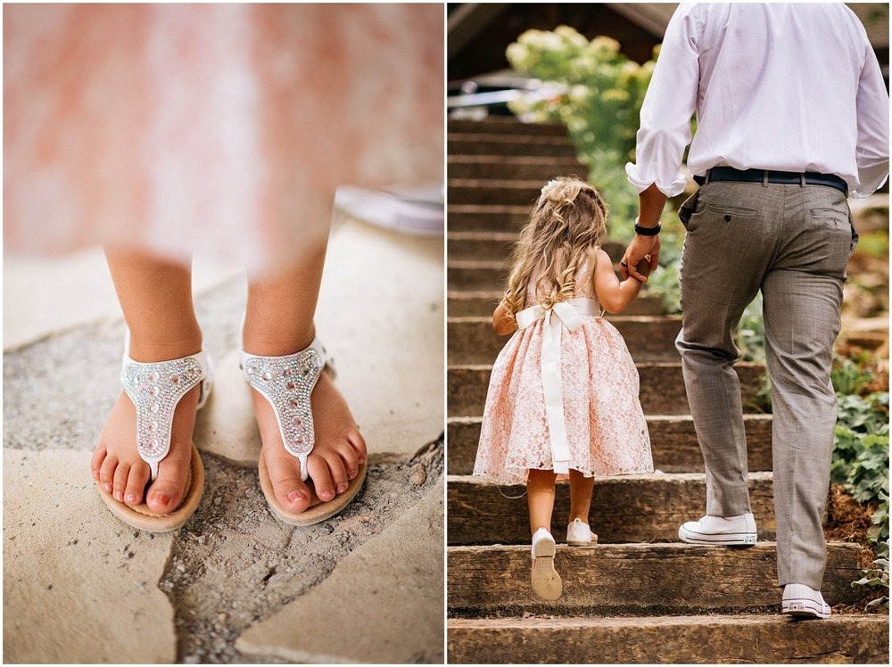 Candids of flower girl and father