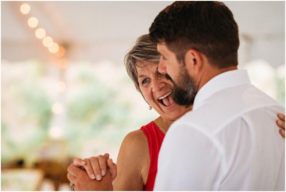 Happy mother of groom