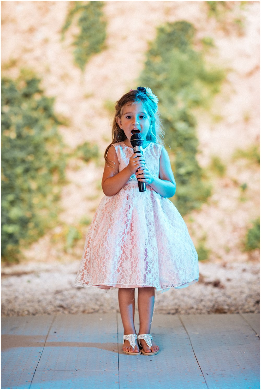 Girl singing at reception