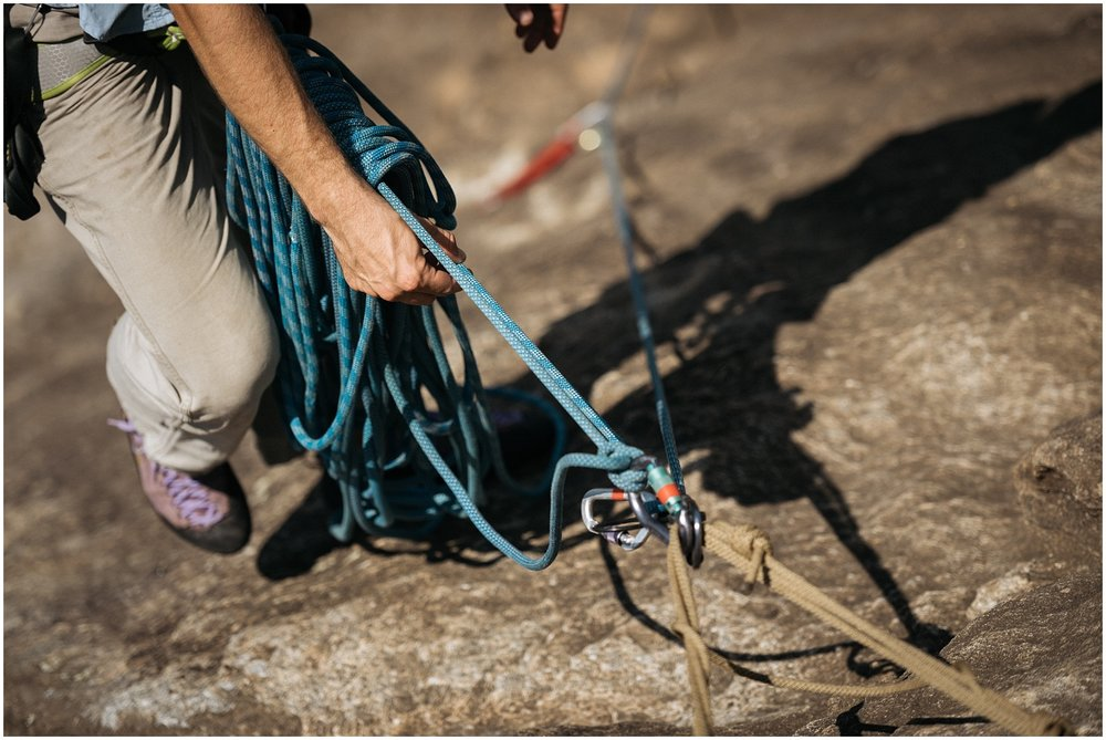 Climbing gear closeup