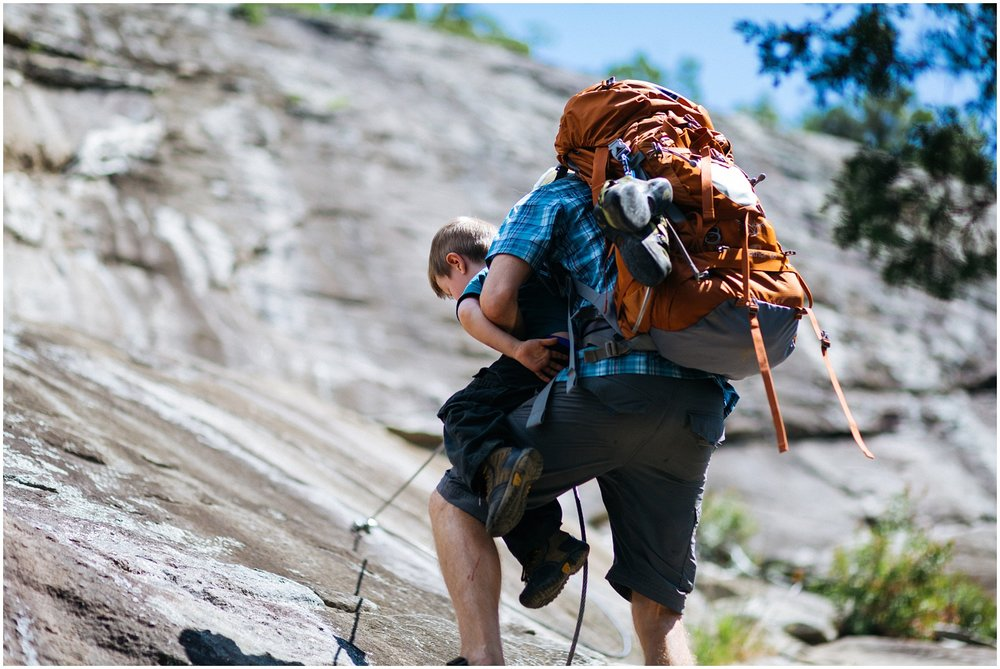 Carrying kid while hiking