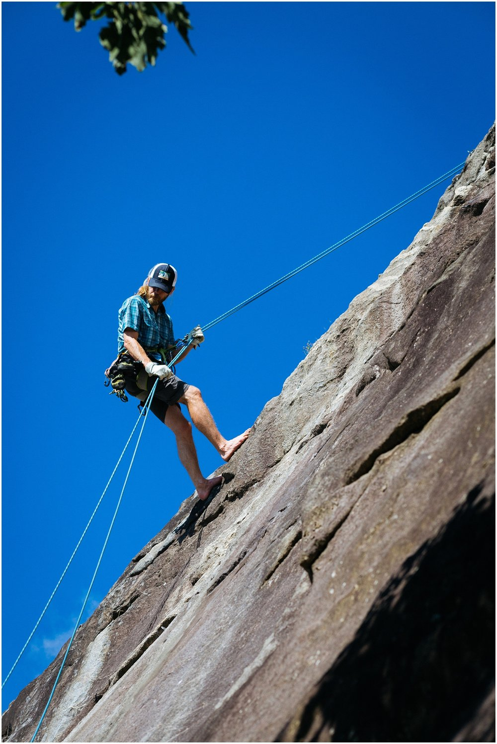 Rappelling at Mt Yonah
