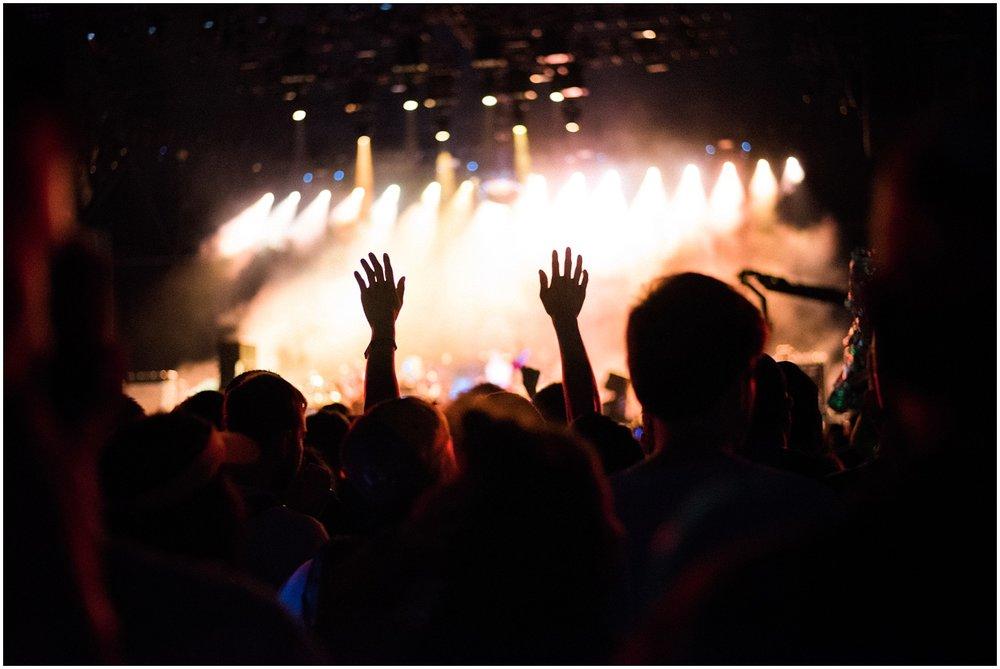 Hands at concert