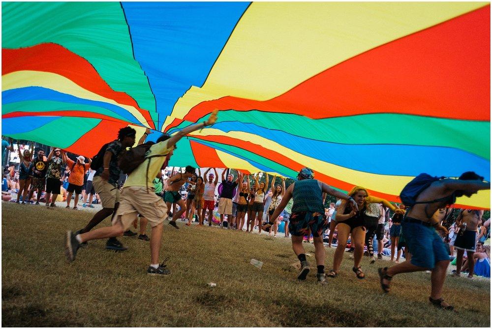 Under parachute