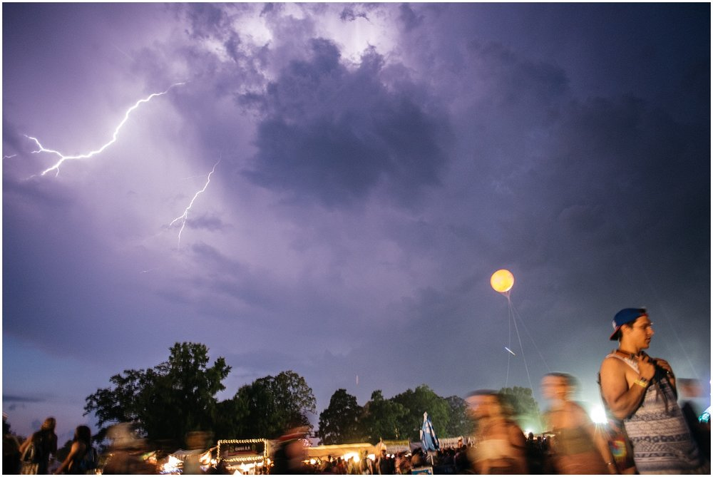 Photojournalist shot of lightning at Bonnaroo 2016