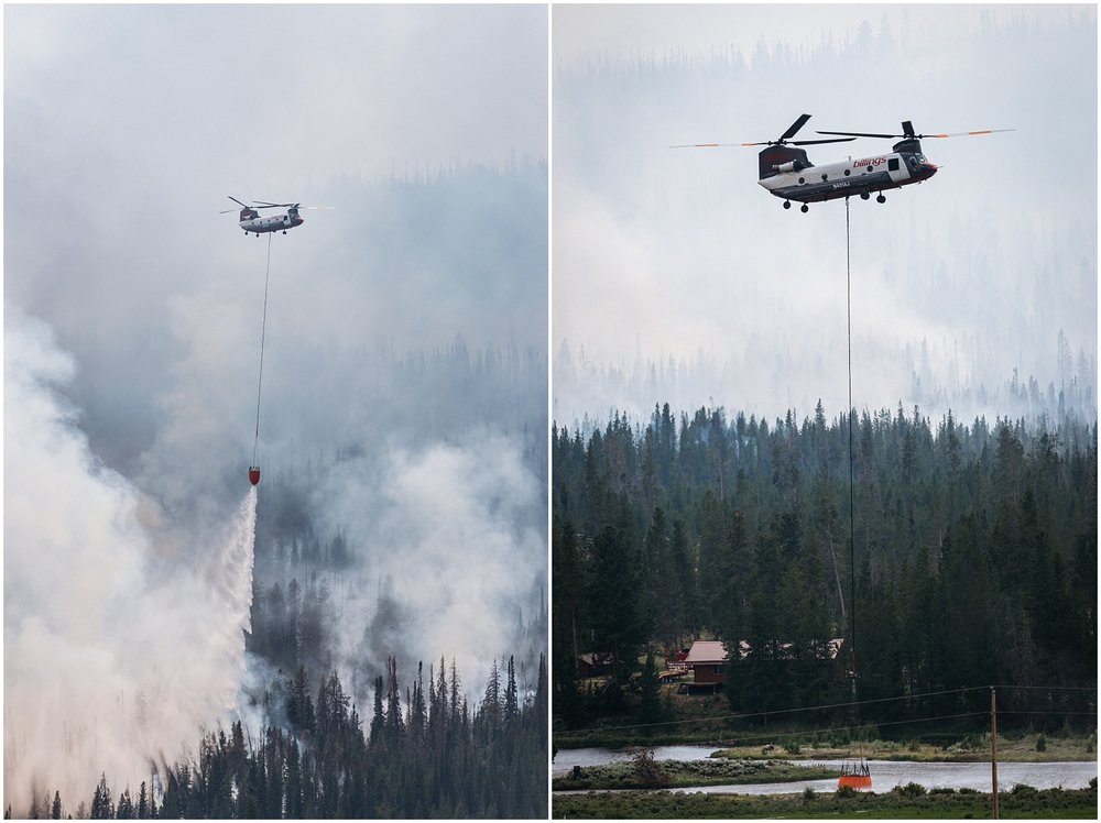 Photojournalism shot of fighting fire at Yellowstone National Park