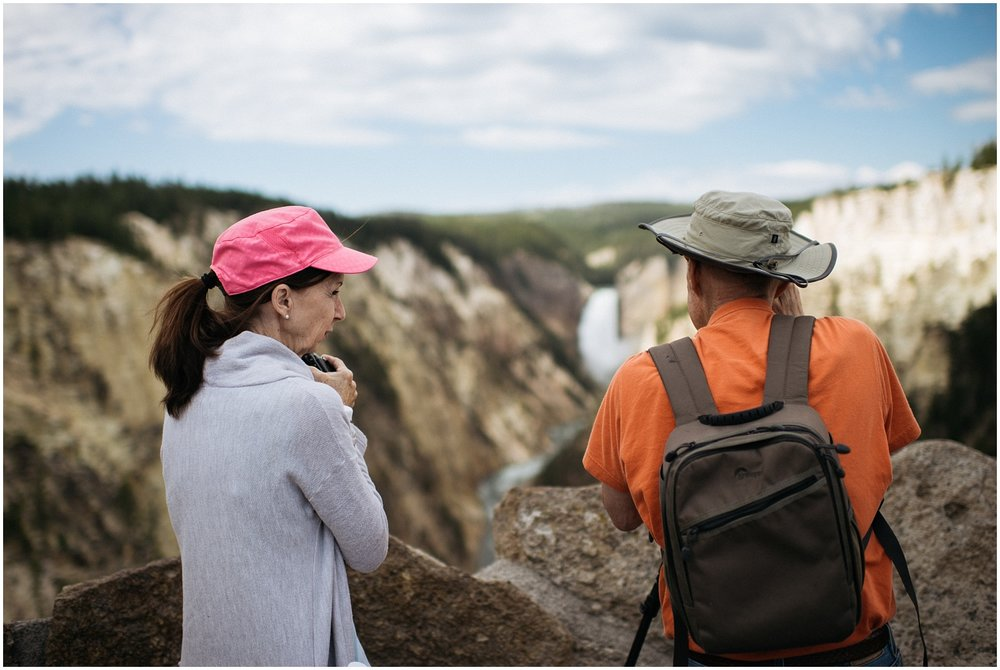 Candid of Mom and Dad at Yellowstone