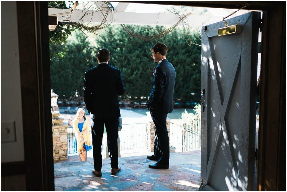 Candid of groomsmen