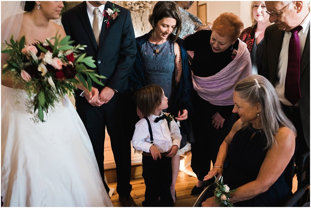 Looking at ring bearer