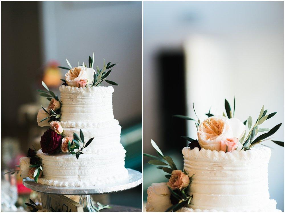 Cake closeup details