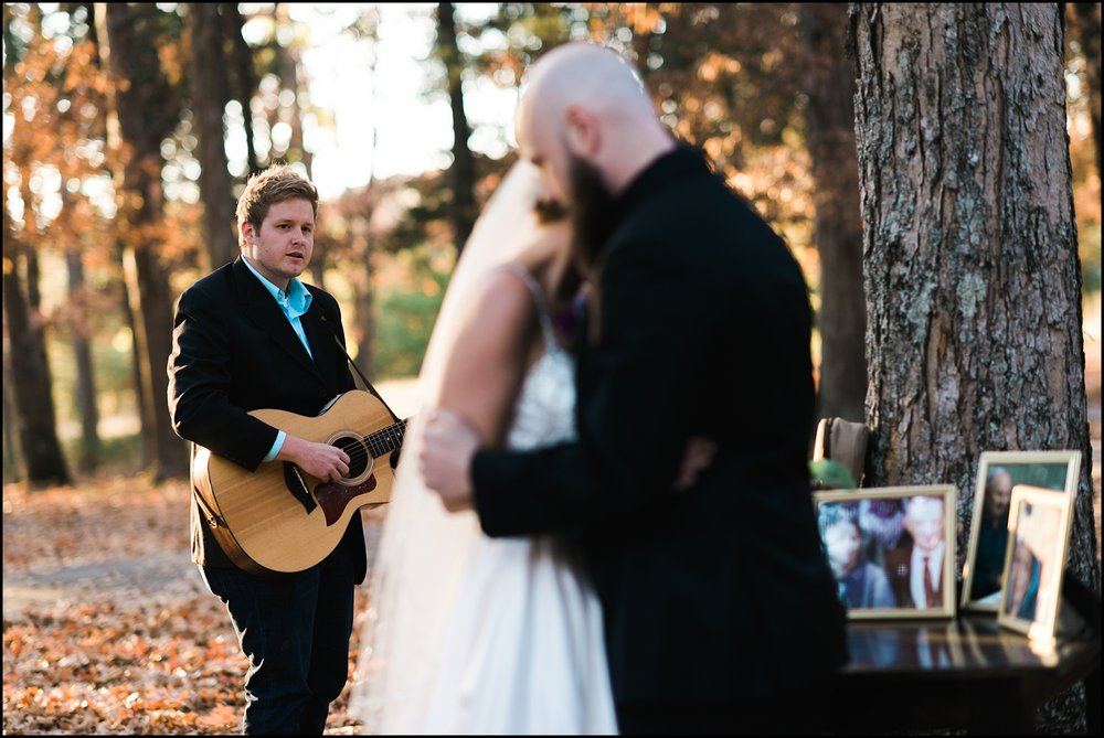 Sweet candid moment at wedding in Nashville