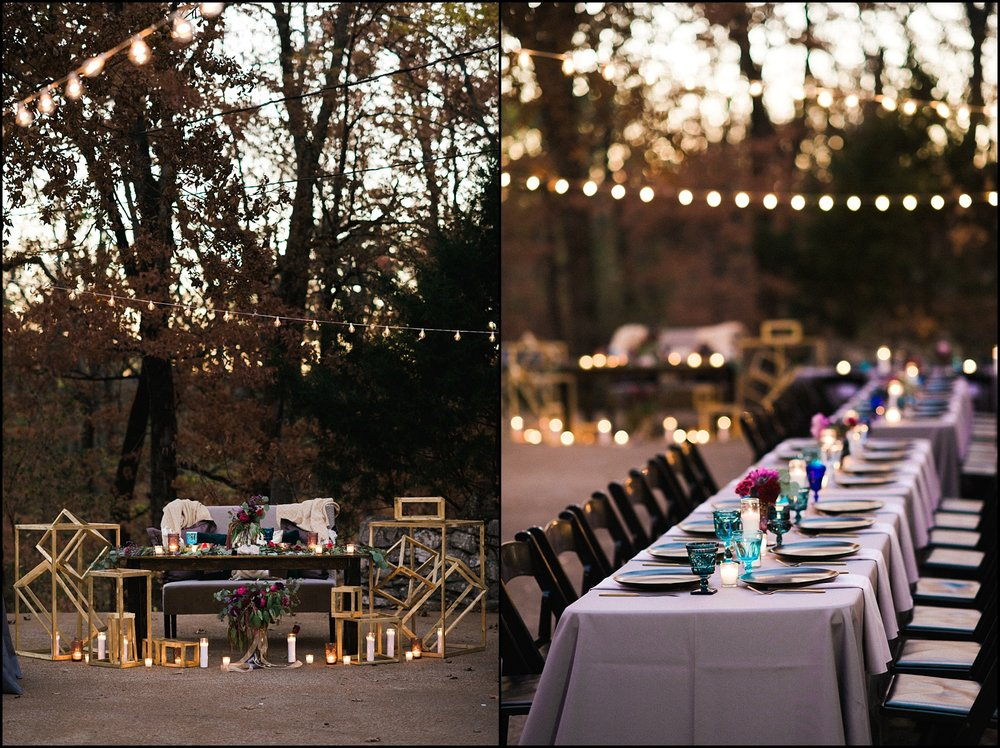 Reception tables for fall wedding