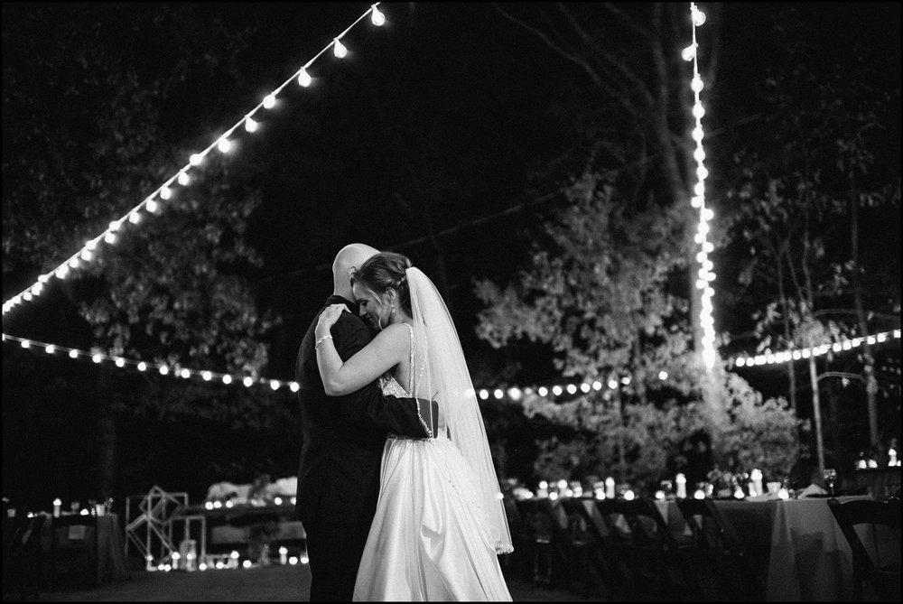 First dance under lights