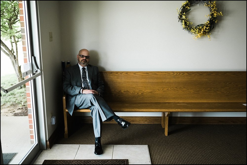 Father of bride waiting