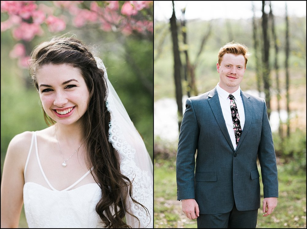 Formal portraits of bride and groom collage