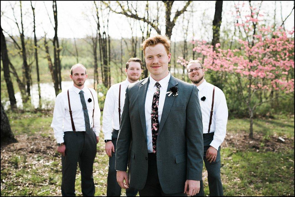 Groomsmen at Quail Ridge Park wedding