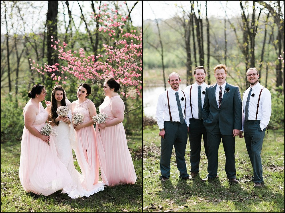 Bridal party group pictures