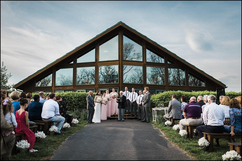 Wedding ceremony at Quail Ridge Park in St. Louis MO