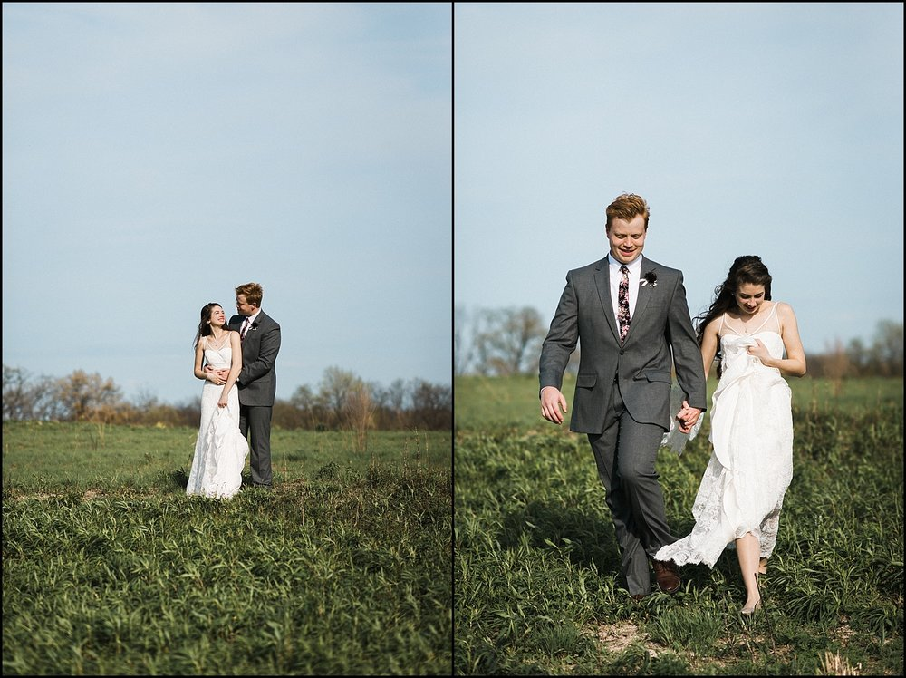 Candid portraits after wedding ceremony