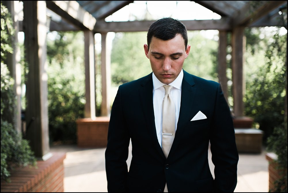 Groom anticipating first look