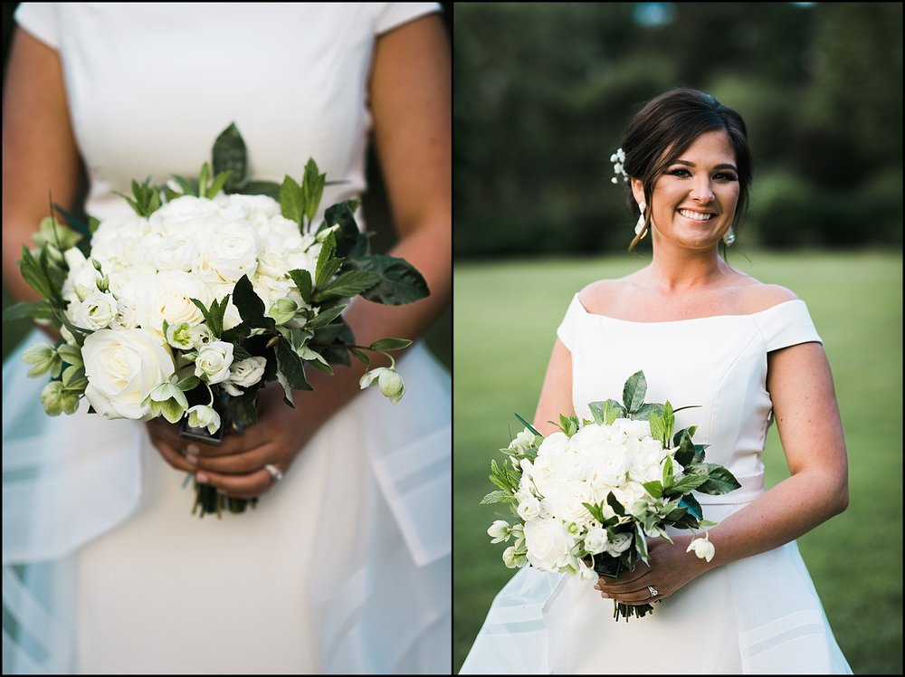 Bouquet and bridal portrait collage