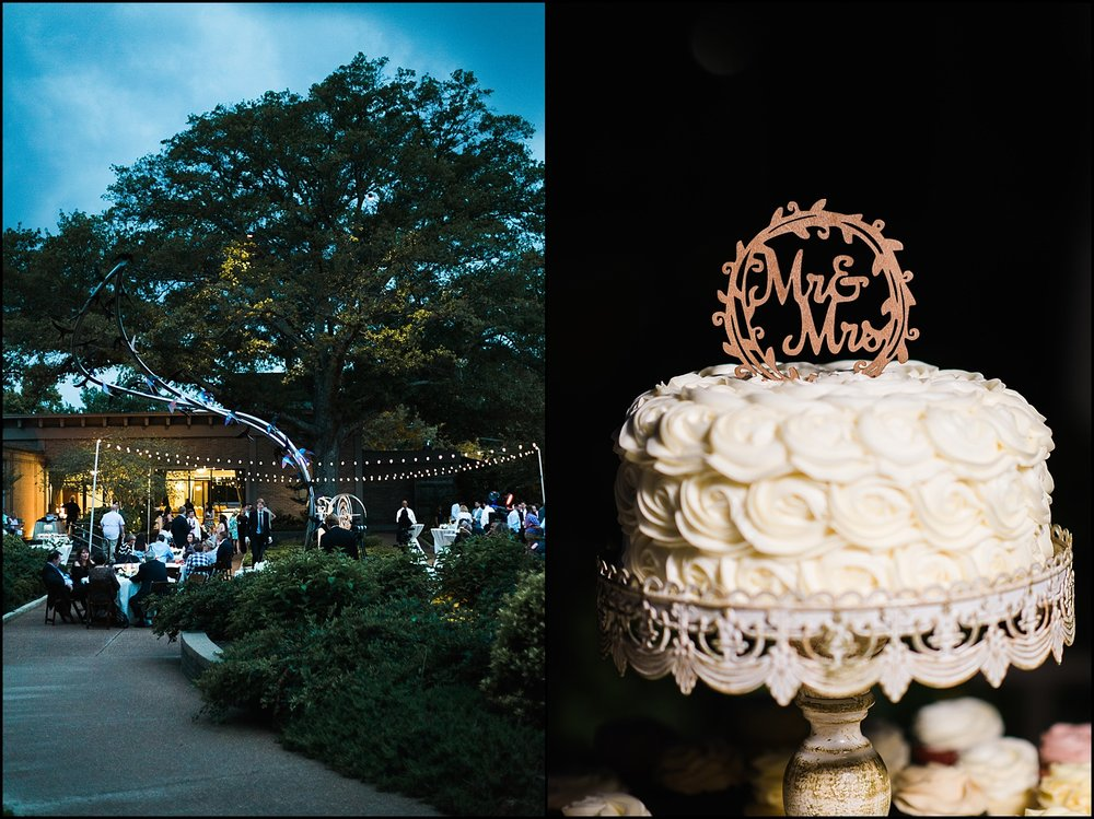 Reception details at Memphis Botanic Garden