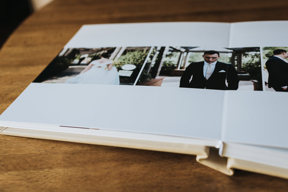 Open wedding album