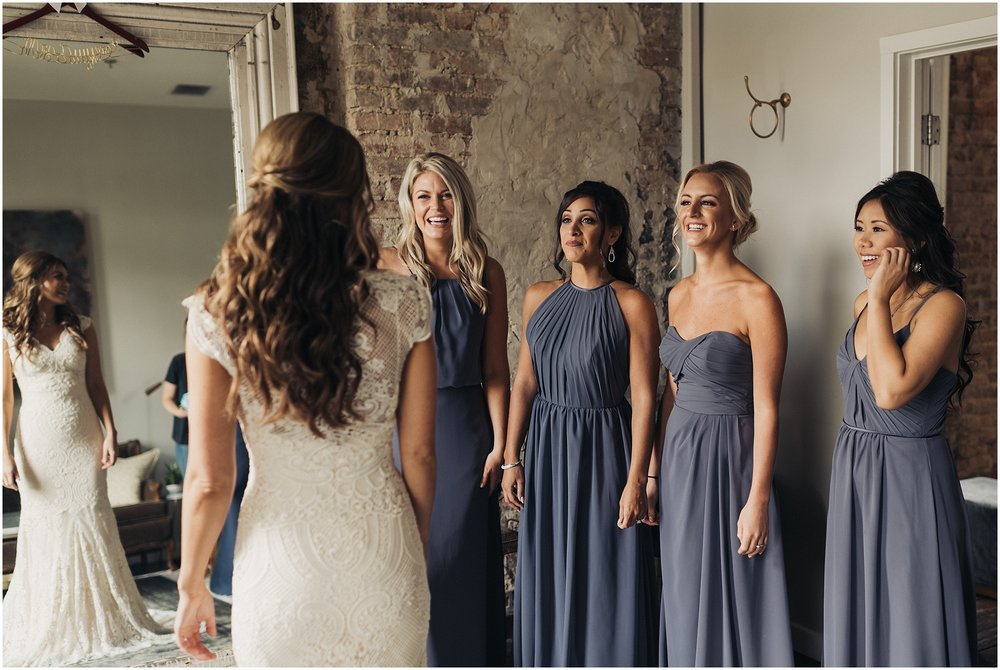 Bridesmaids candid