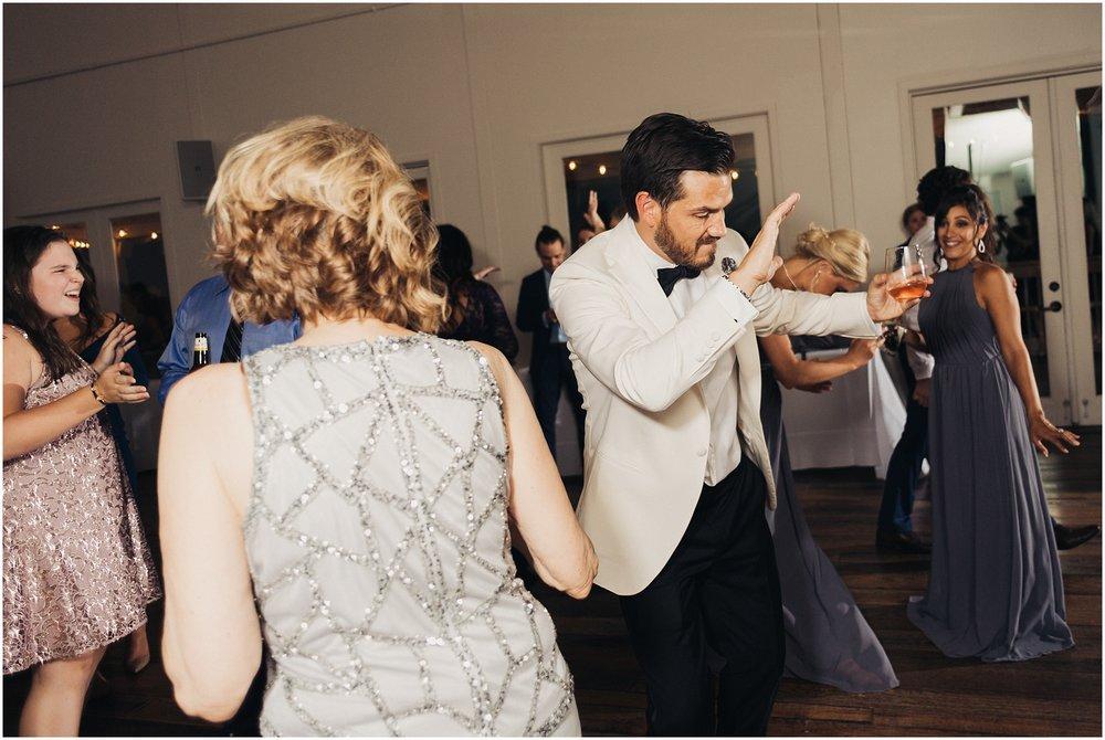 Groom on dance floor