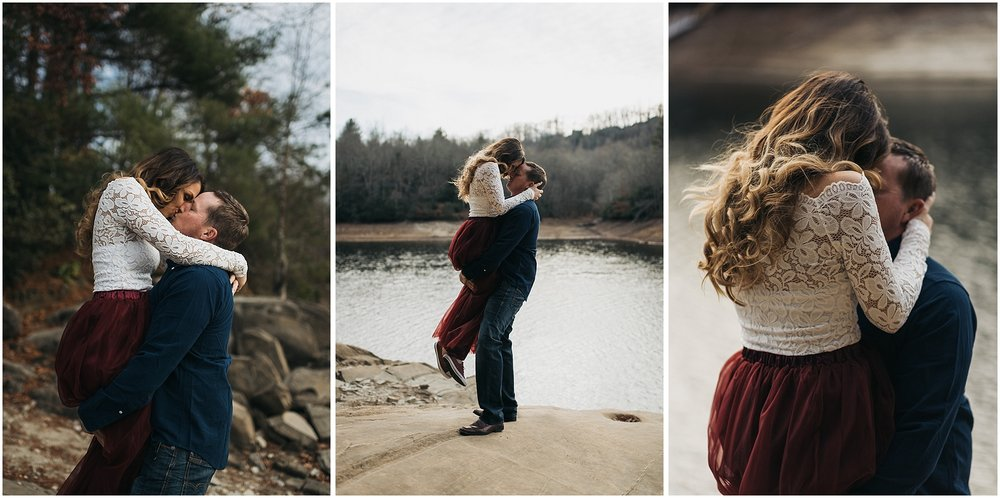 Nantahala lake engagement
