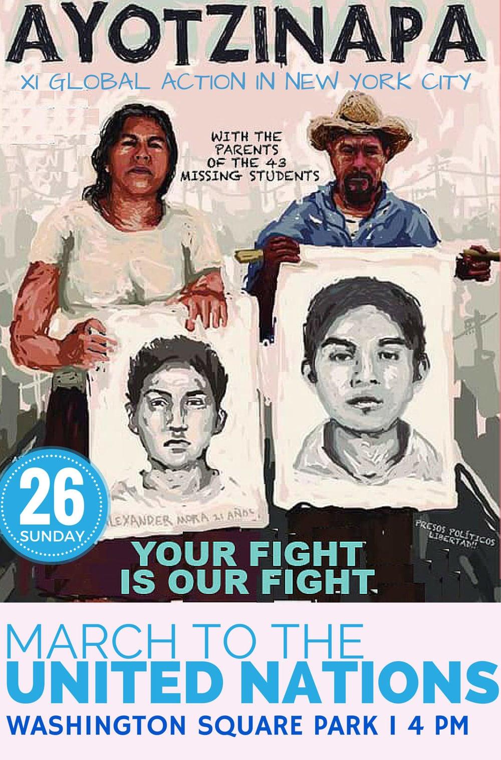 Jaime Gonzalez, a member of Ayotzinapa NY