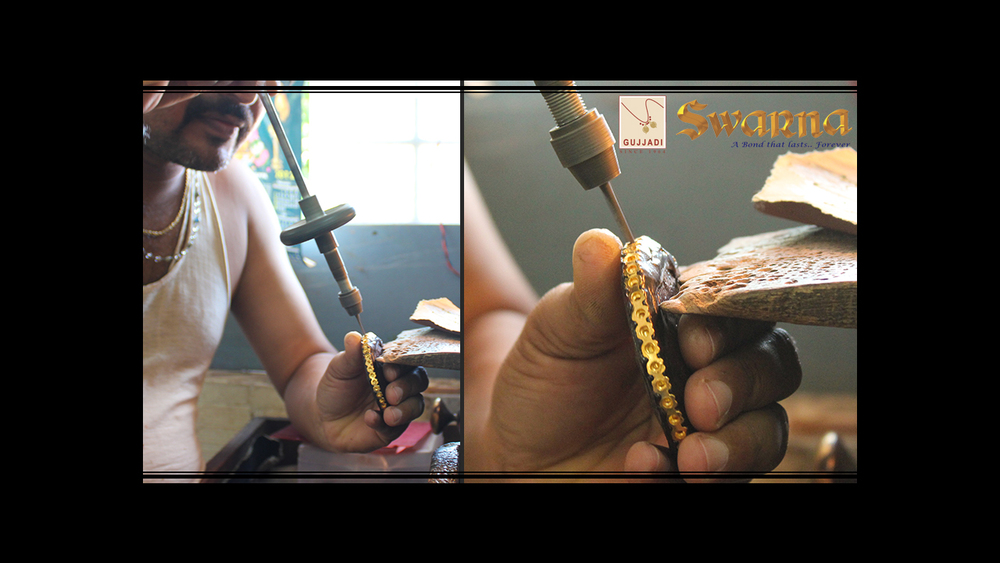 Drill Press process on a Bangle