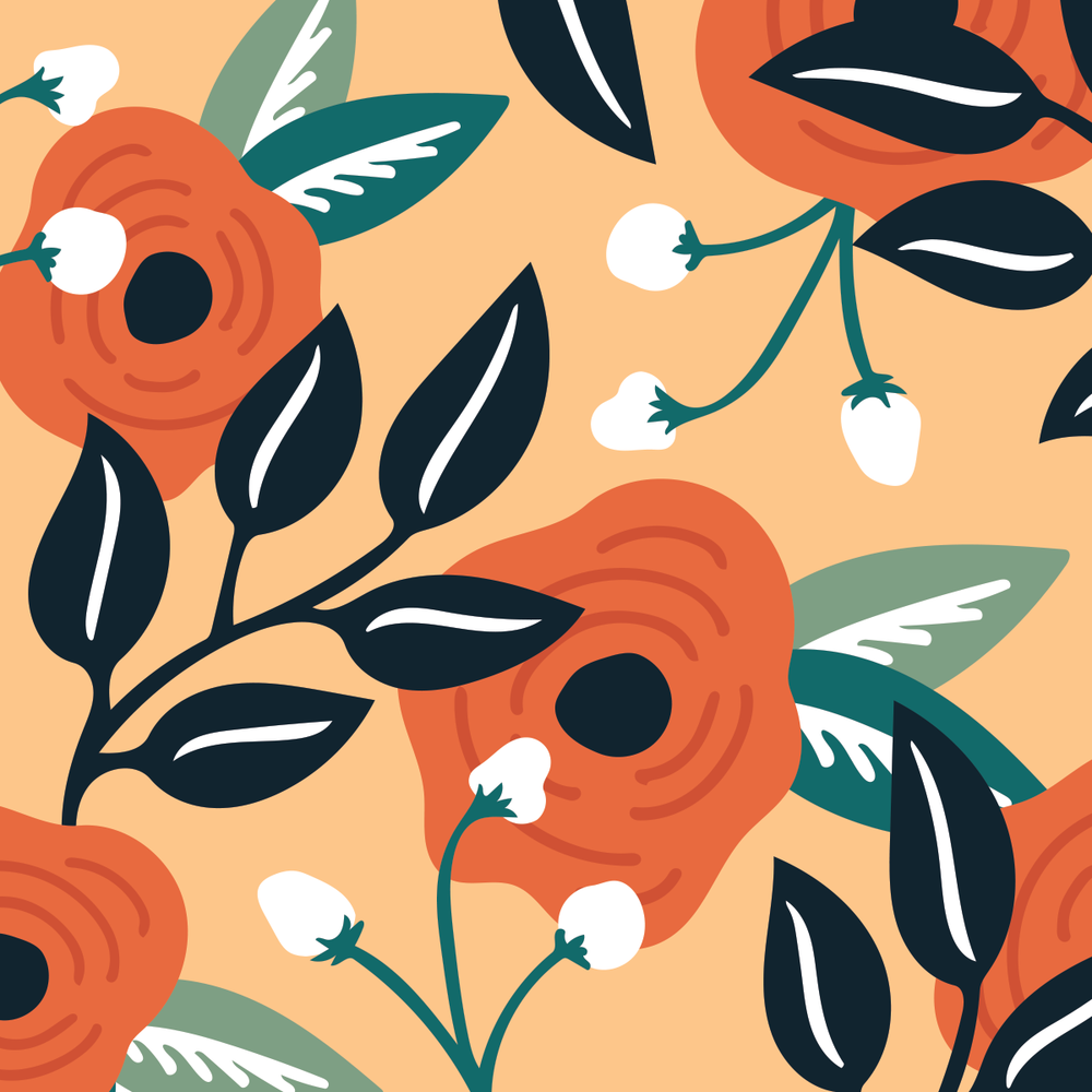 Botanical pattern by Pace Creative Design Studio