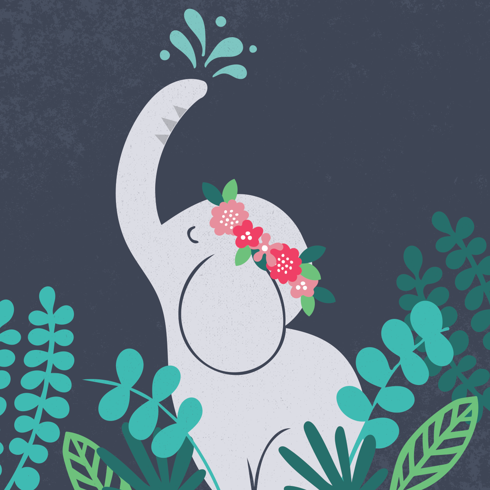 Elephant illustration by Pace Creative Design Studio