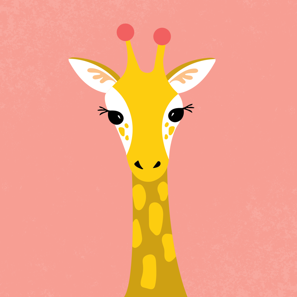 Giraffe illustration by Pace Creative Design Studio