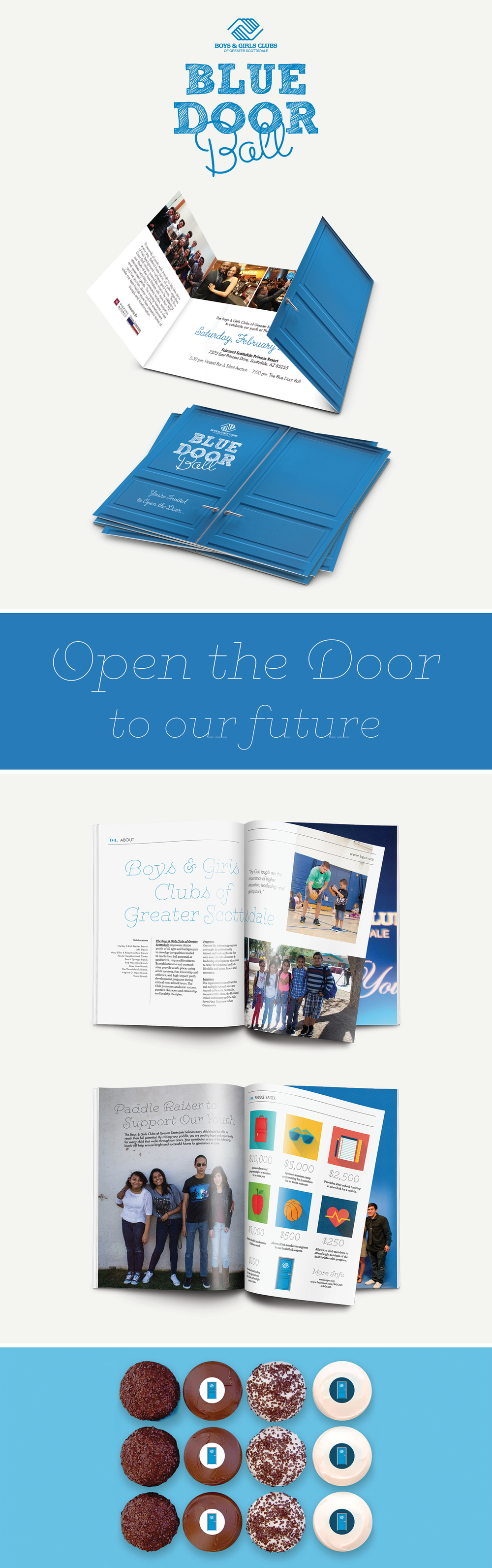 The Blue Door Ball event branding by Pace Creative Design Studio