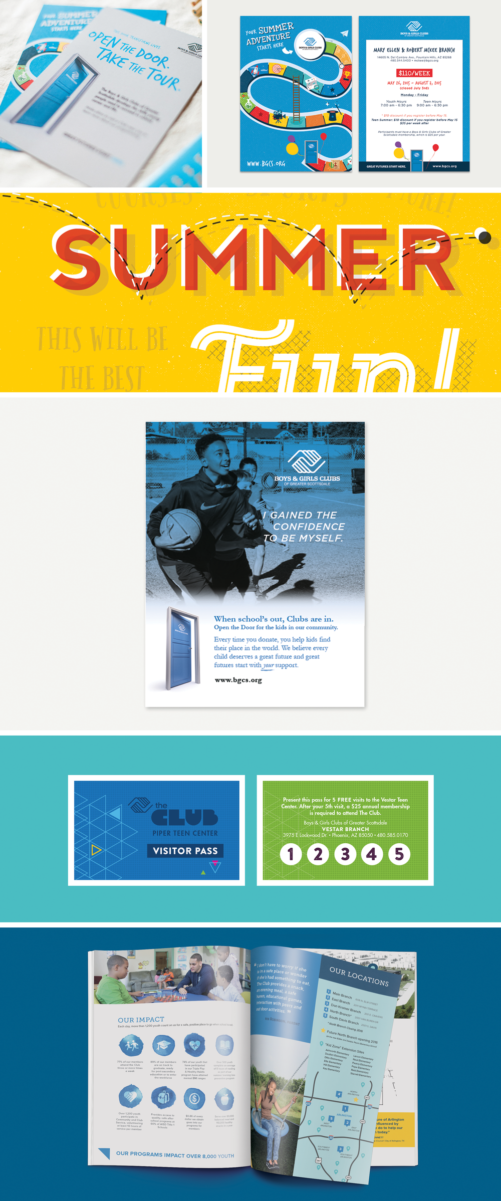 Boys & Girls Clubs design work by Pace Creative Design Studio